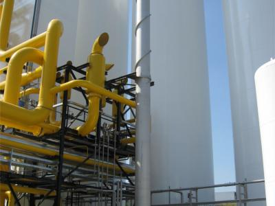 Drain vaporizers for air separation plants
